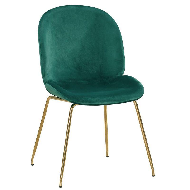 【MB1063-5】溫妮莎餐椅(綠布)(五金腳)