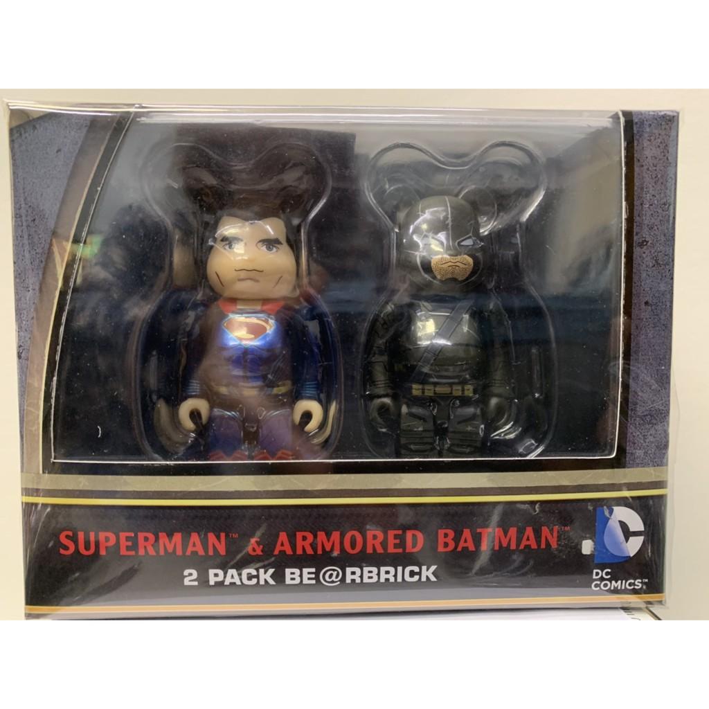BE@RBRICK SUPERMAN & ARMORED BATMAN  100%