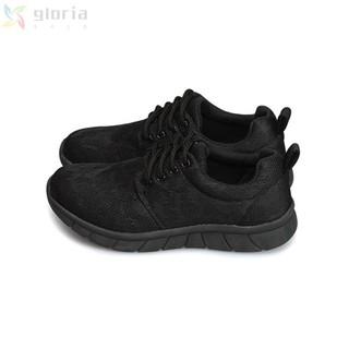 熱銷款新鞋網布彈力輕量慢跑鞋 全黑 1S114N 運動鞋 臺南市