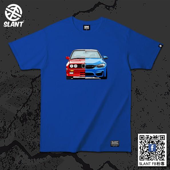 SLANT BMW寶馬M3 E30-F80性能級房車 M Power暢銷車款 M3復古到現在插畫T恤 跑車T恤 賽車T恤