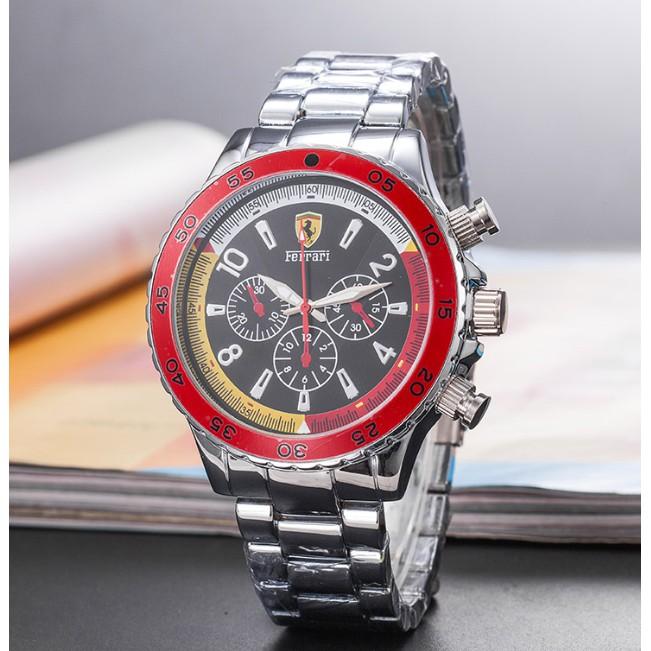 法拉利新款時尚鋼帶石英防水手錶