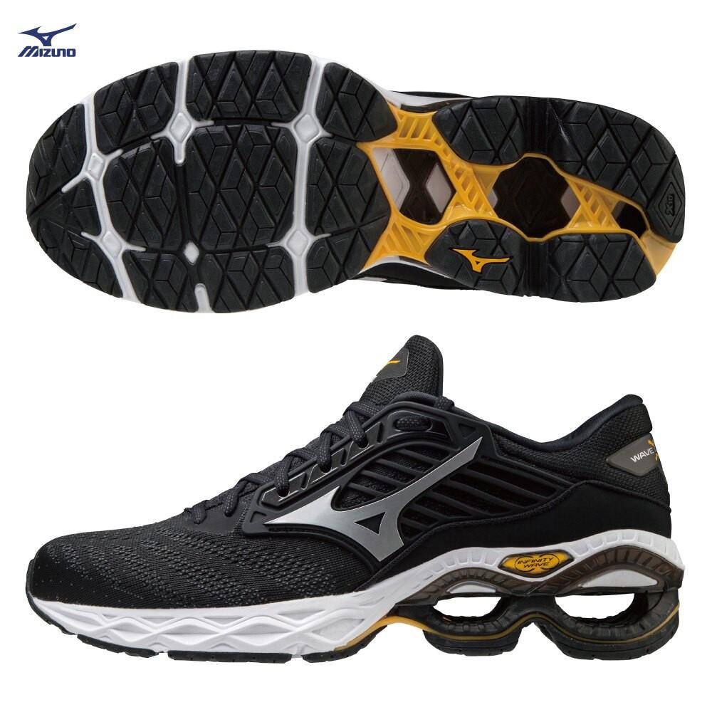 MIZUNO WAVE CREATION 22 男鞋 慢跑 U4icX中底 柔軟 黑【運動世界】J1GC210103