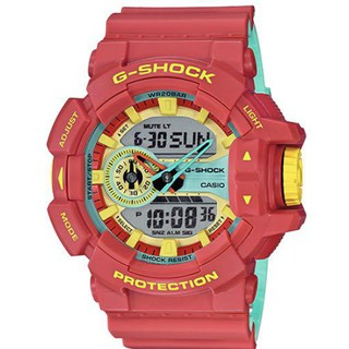 Casio 卡西歐 G-SHOCK 系列樂高配色手錶 紅色 電子錶 運動手錶 男女手錶 GA-400CM-4A 桃園市
