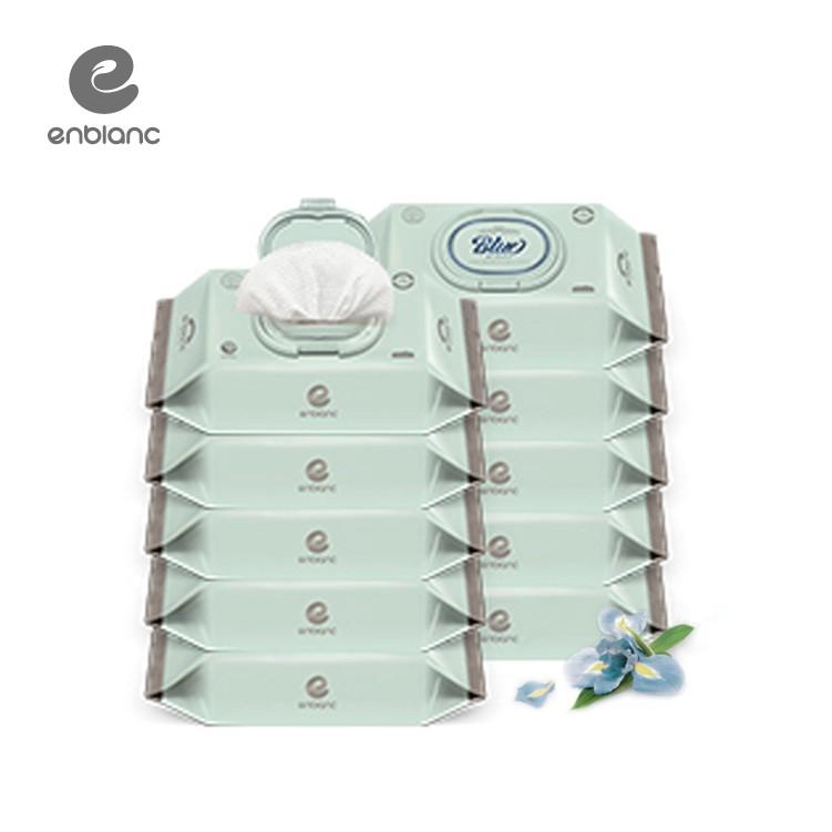 【箱購免運】ENBLANC 頂級柔緻純水有蓋濕紙巾| 極厚款|藍鳶尾花萃取物 | 70抽(箱)