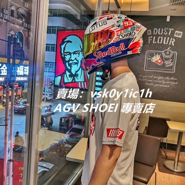 SHOEI安全帽 X14電源紅牛全罩安全帽 機車騎士安全頭盔