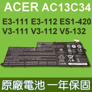 ACER AC13C34 原廠電池 Aspire E-11 E3-111 E3-112 ES1-111 ES1-420 台中市