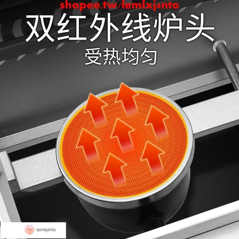 魅廚雞蛋漢堡機商用燃氣款車輪餅紅豆餅機章魚小丸子機器擺攤設備