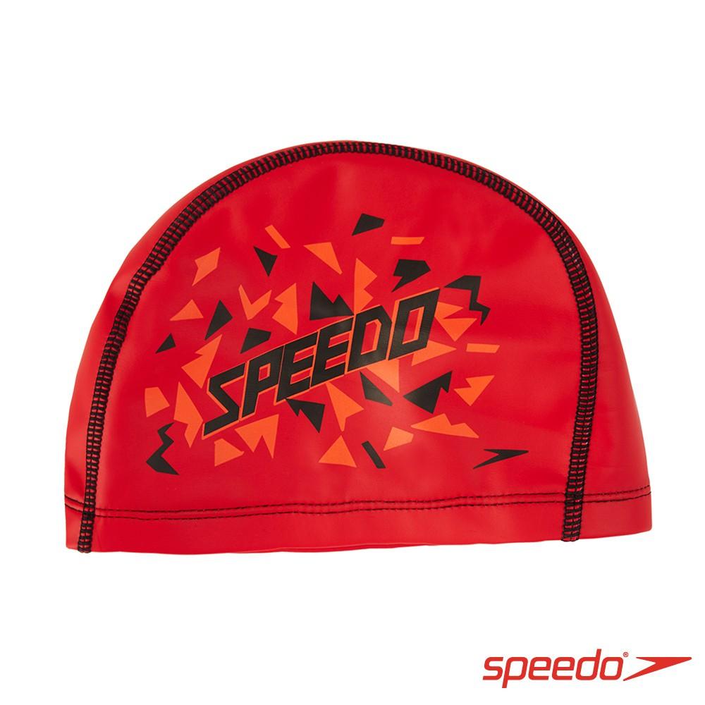 【SPEEDO】兒童6-14歲 合成泳帽 Pace- SD811307B954 紅印花 [SUN]