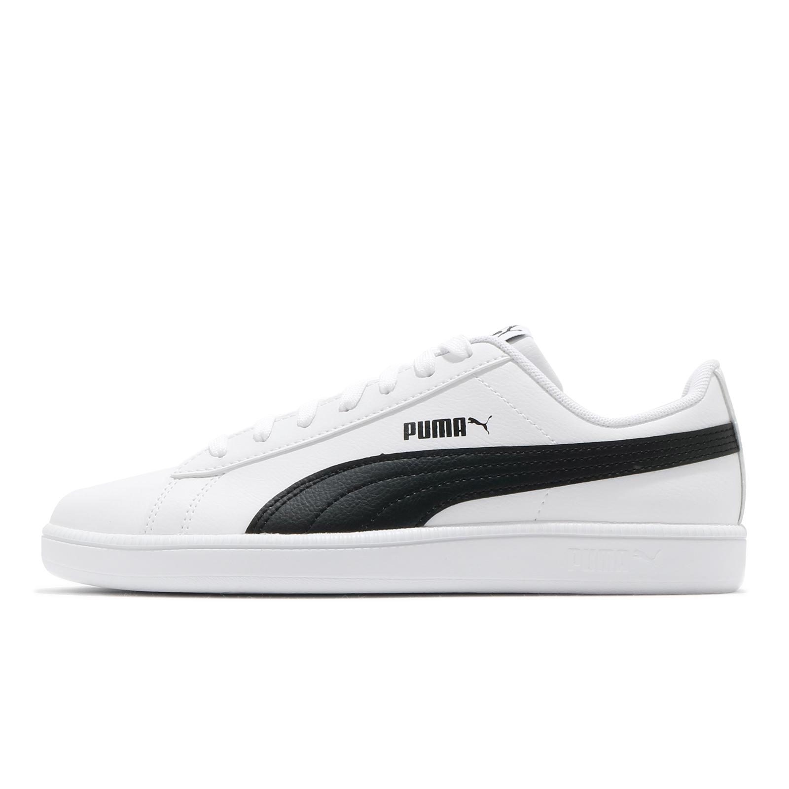 Puma 休閒鞋 UP 白 黑 男女鞋 皮革鞋面 基本款 小白鞋 運動鞋【ACS】 37260502
