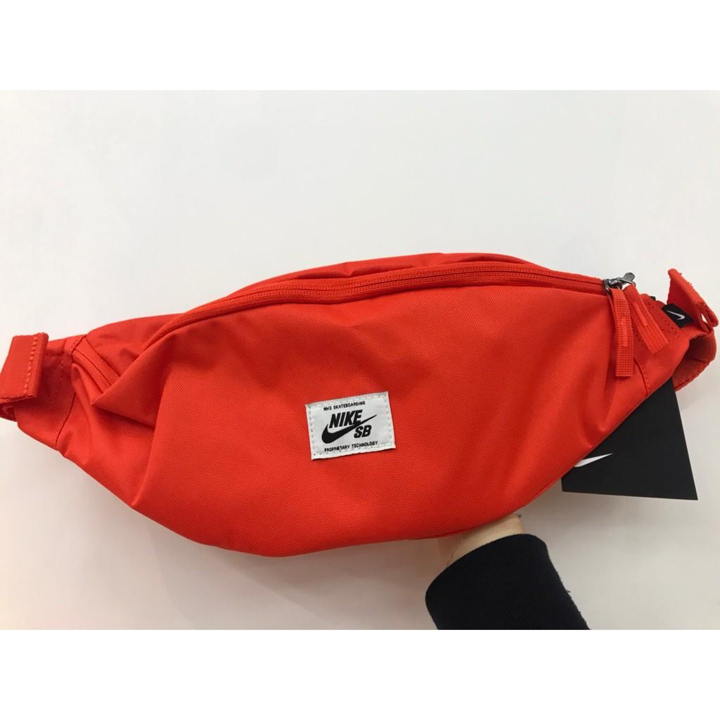 【豬豬老闆】NIKE SB HERITAGE PACK 橘色 小包 側背包 腰包 經典 休閒 運動 BA6445-891