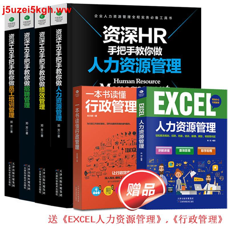 全6冊】資深HR手把手教你做人力資源管理行政績效與薪酬管理考核招聘Excel表格制作企業人事培訓管理書籍 可搭金字塔原理