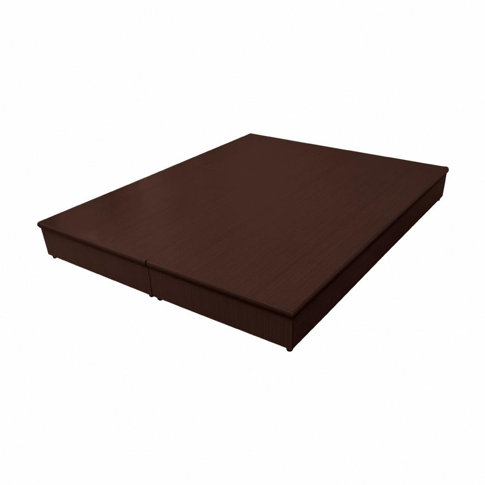 AS-5尺胡桃色PU半封三分床底-151x187x20.7cm