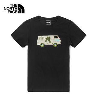 THE NORTH FACE 美國北臉 短袖上衣 黑色 露營車圖案 NF0A499A 戶外風格