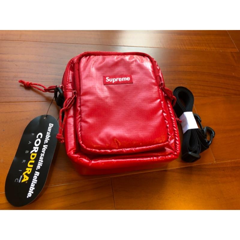 Supreme 17FW 43th shoulder bag 紅色 Cordura 材質 防潑水 肩包 小包