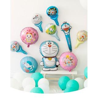 閃電發貨哆啦A夢手持氣球棒 卡通鋁箔氣球棒 手拿棒氣球 生日派對佈置