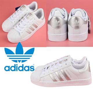 爆款白銀色】Adidas Superstar II系列CLOT貝殼頭80s 愛迪達 原創正品 皮面 百搭鞋 小白鞋