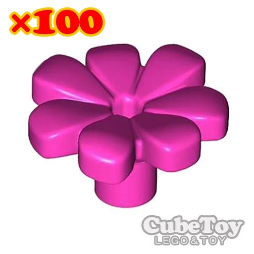 【CubeToy】樂高 32606 深粉紅色 小花 櫻花 花瓣 × 100朵 / 21318 樹屋 - LEGO -
