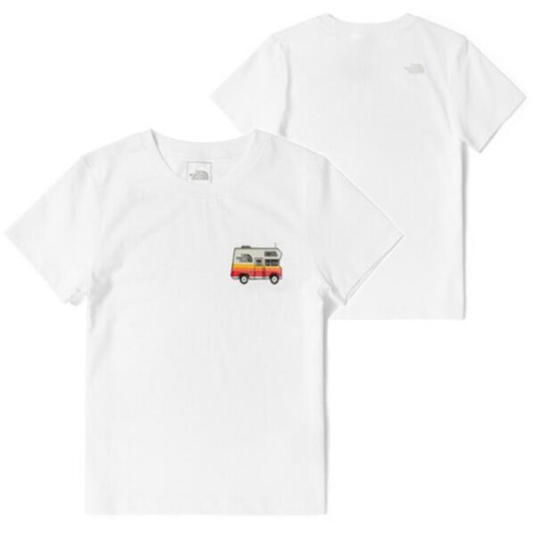 【美國 The North Face】零碼特價》露營車》女款柔軟透氣仿棉短袖圓領休閒T恤(亞版)_4UBM