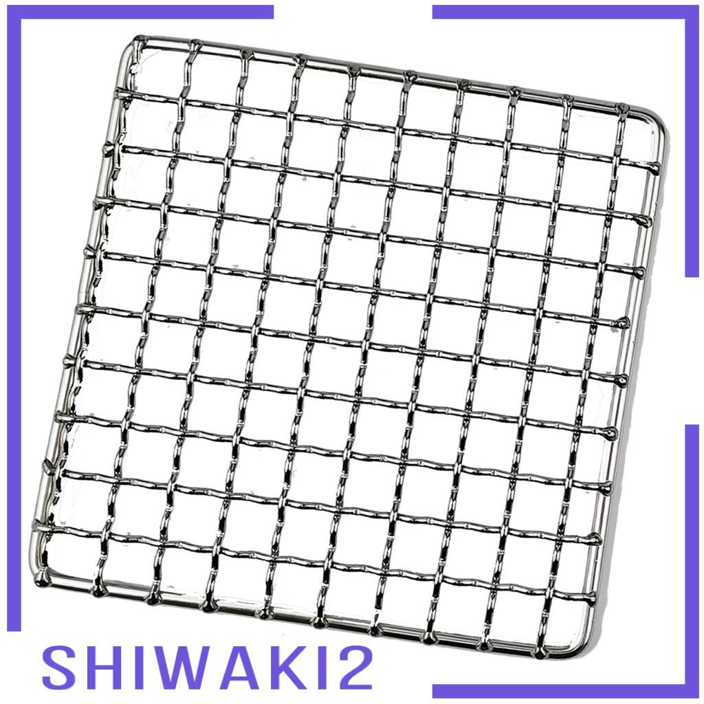 [Shiwaki2] 1 包燒烤架網狀墊便攜式簡單柴火烤架 304 不銹鋼烤肉戶外