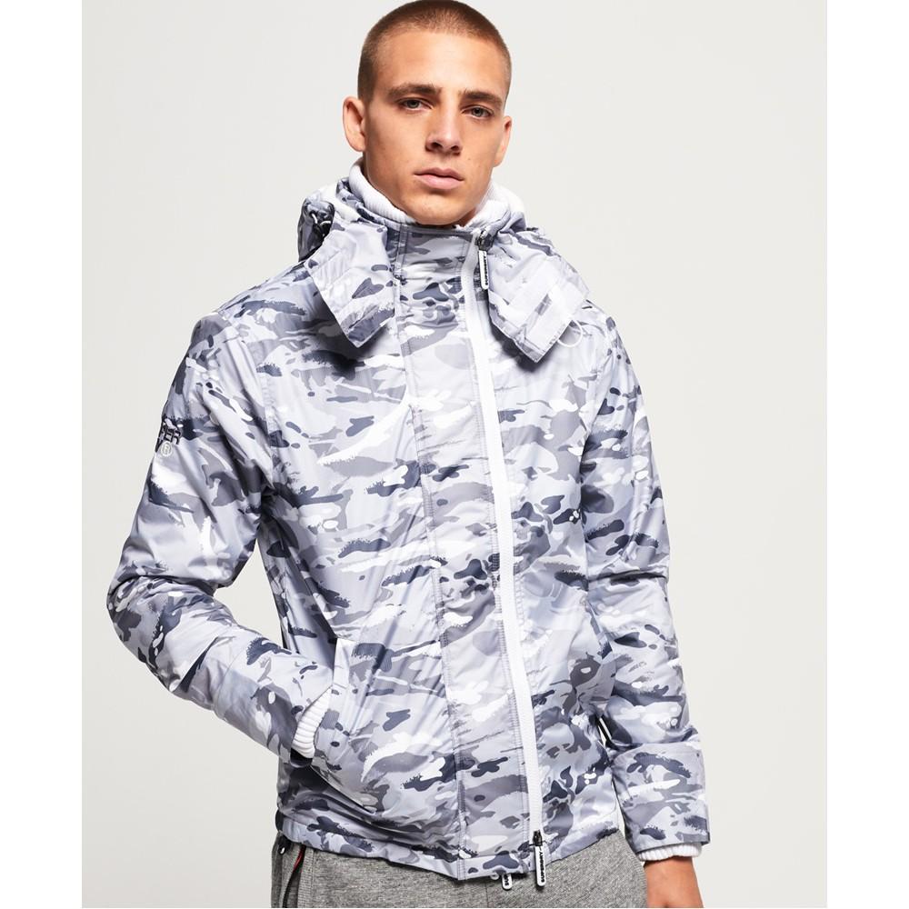 寒潮爆殺白迷彩32折!官網真品 SUPERDRY 極度乾燥 三層拉鍊 保暖鋪絨 連帽風衣外套