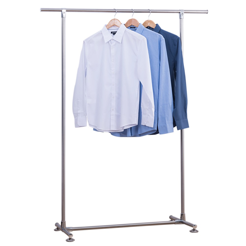 雙手萬能 不鏽鋼全金屬單桿衣架 收納 曬衣架 晾衣架 免運 廠商直送 現貨