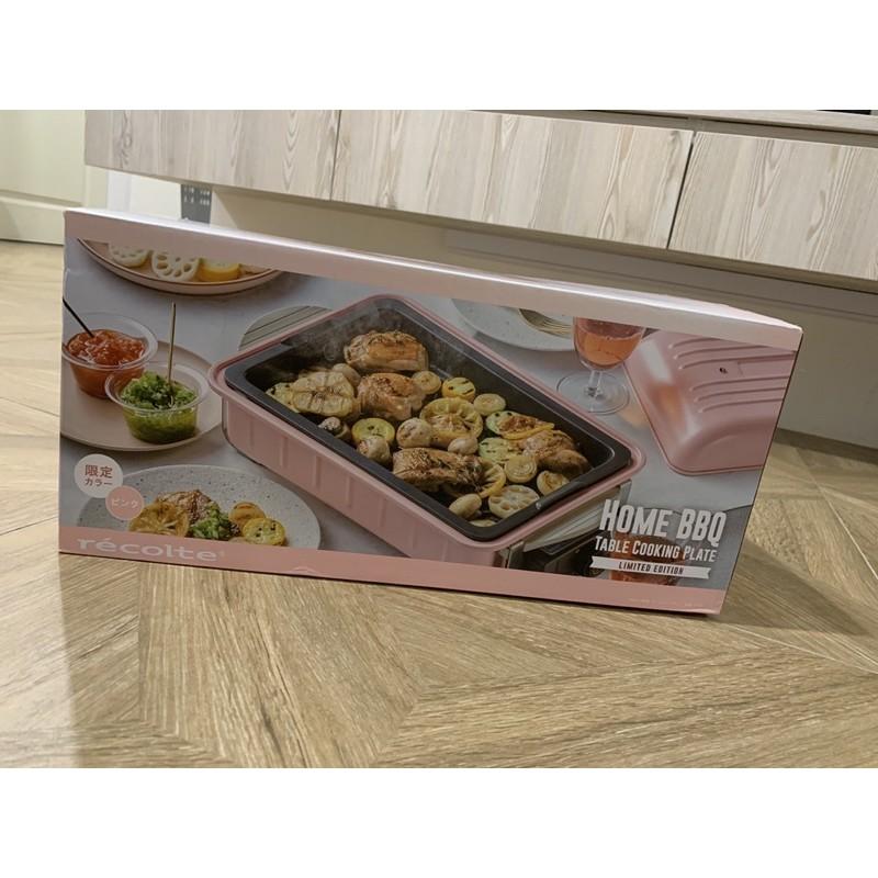 二手recolte日本麗克特🇯🇵Home BBQ電烤盤 櫻花粉限定 RBQ-1