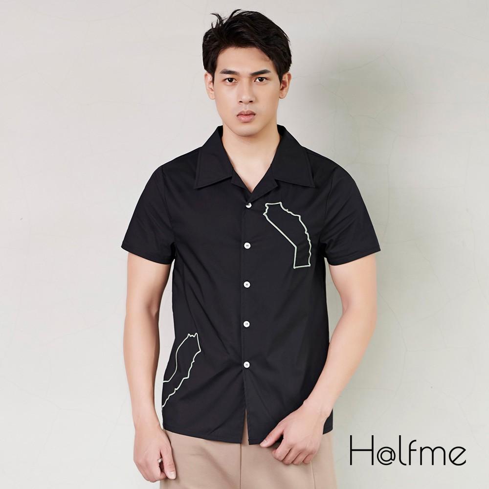 Halfme 立體刺繡襯衫 - 男