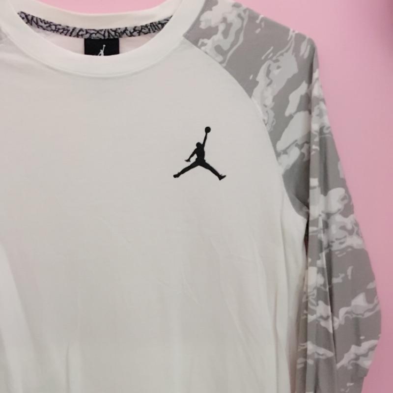 Jordan七分袖迷彩T