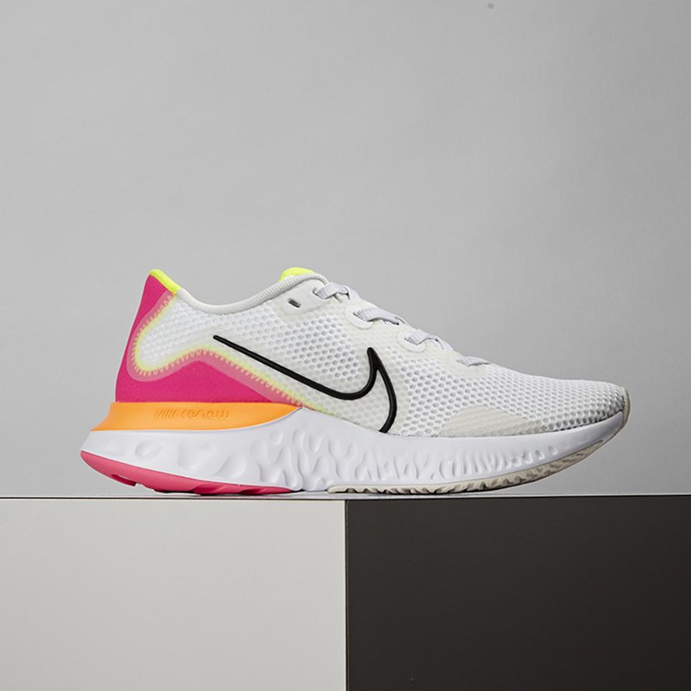 Nike Renew Run 女鞋 白粉 休閒 輕量 透氣 慢跑鞋 CK6360-005