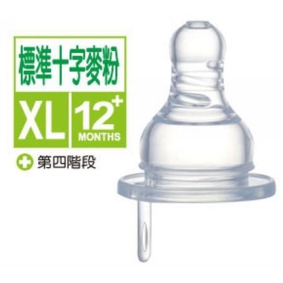 小獅王辛巴 防脹氣標準十字孔奶嘴XL-1入(麥粉)