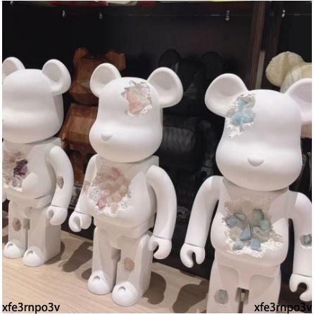 【質保i出貨】潮玩 積木熊 bearbrick1000%暴力熊 烏拉圭水晶熊 擺件 庫柏力克熊 潮玩手辦 高訂暴力熊