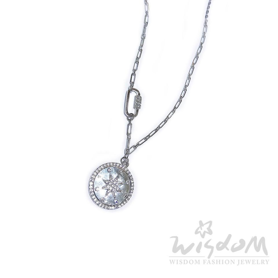 威世登 羅盤銀小套鍊 禮物推薦 SB00321-ADGX