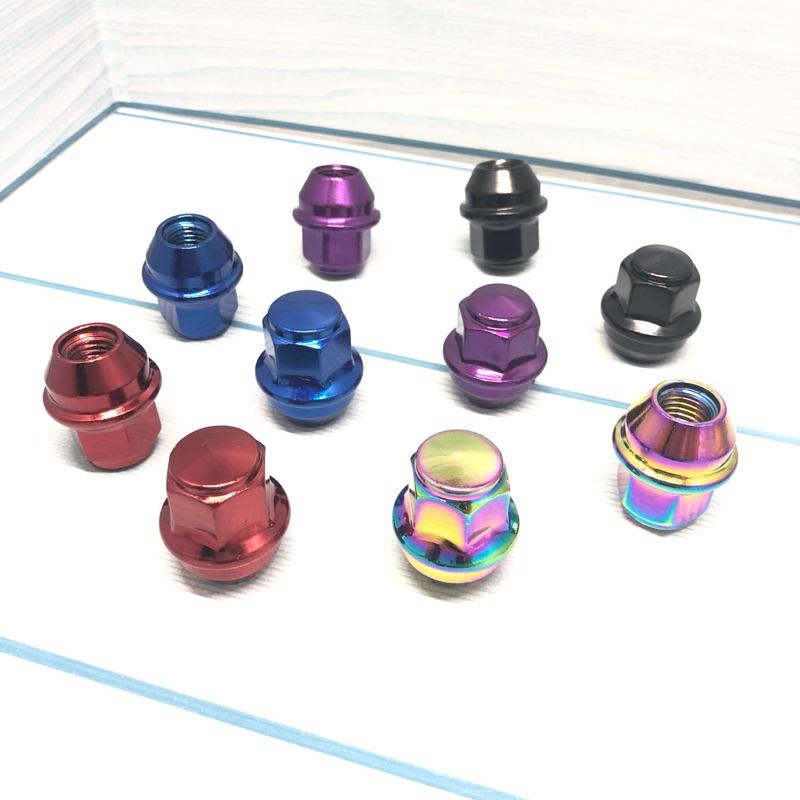 全實心 無鐵皮 Focus Kuga Mondeo 電鍍 紅 藍 紫 黑 鈦色 鐵灰 金 鋁圈 螺帽 螺絲 輪圈 輪胎