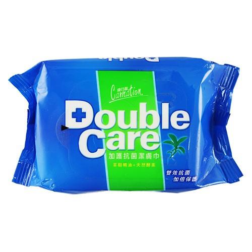 康乃馨 Double Care 加護抗菌潔膚巾 20抽 濕紙巾 濕巾 Tisu Basah Anti Bakteri
