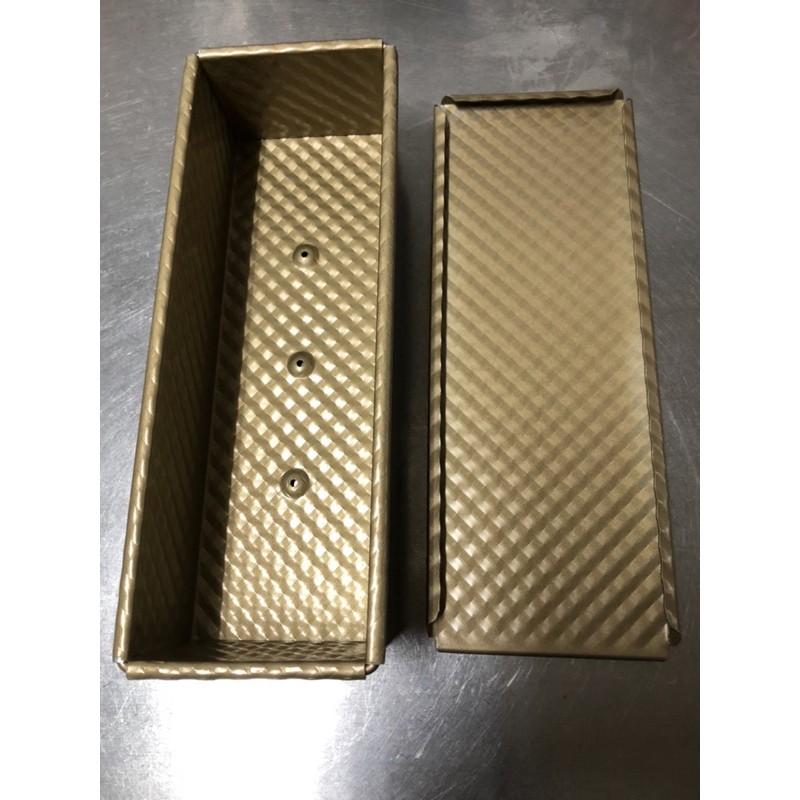 金色波紋不沾吐司模 350g附上蓋 (可當 土司模 450g 土司模 吐司盒 比12兩吐司盒小 12兩吐司模)