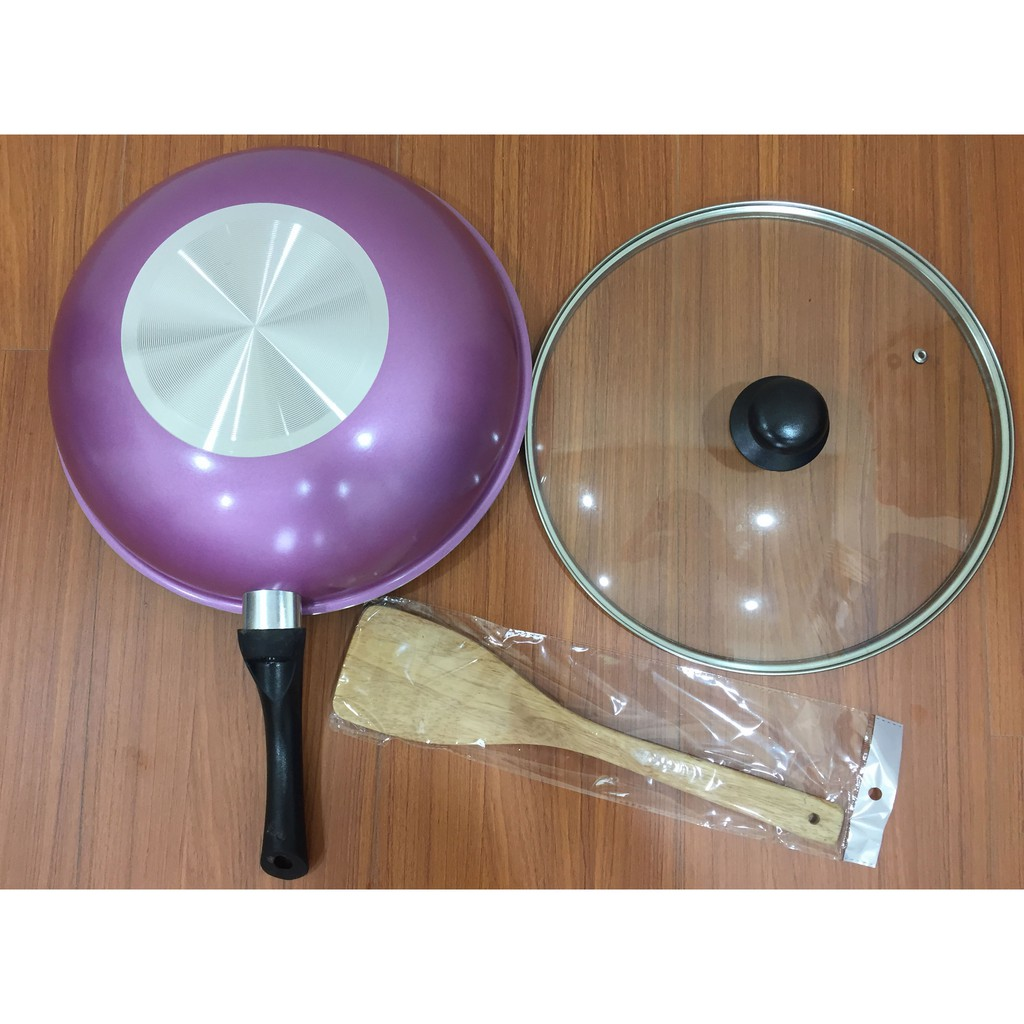 全新MONCROSS OF SWISS 瑞士陶瓷香檳紫 不沾鍋組/附鍋鏟及鍋蓋/鍋具組/小家庭適用