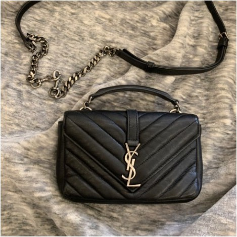 《HC》二手精品  YSL Saint Laurent mini 學院包 絕版美包