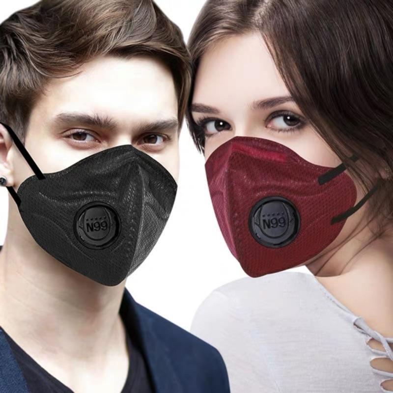 現貨!N99  立體成人口罩  黑色 帶呼吸閥