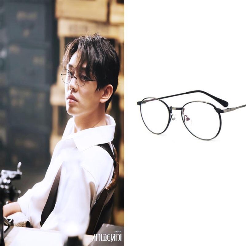 [預購]韓劇《芝加哥打字機》劉亞仁同款 金屬邊圓框復古眼鏡 情侶款