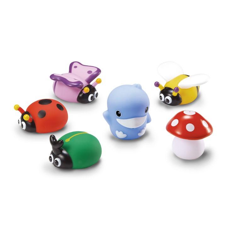 KuKu酷咕鴨 - 水中洗澡玩具 花園昆蟲組