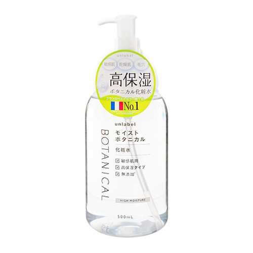 日本 Unlabel 植物高保濕化妝水(500ml)【小三美日】D880326