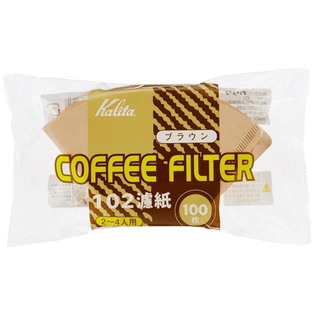(附發票) 日本原裝進口 Kalita 102 無漂白 扇形 濾紙 一包 100張