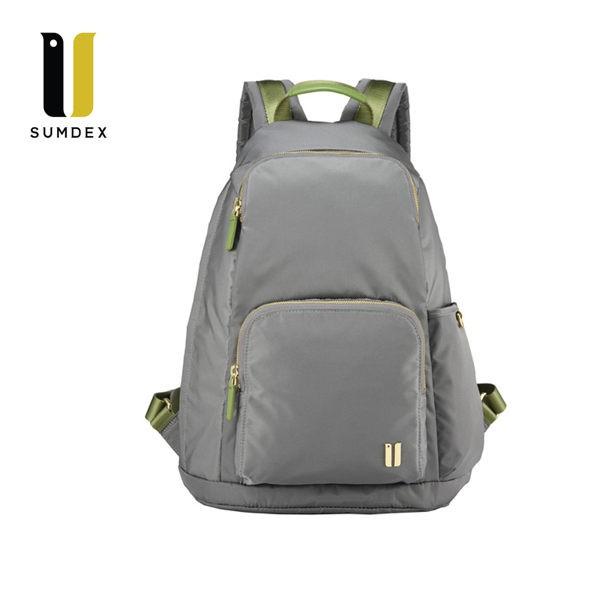 SUMDEX 防盜後開後背包NOA-764CK灰色