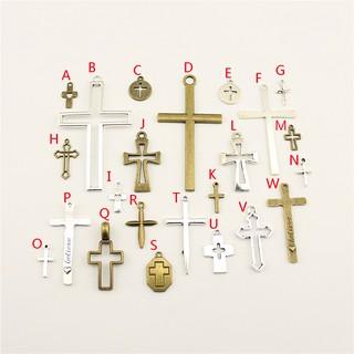 光滑 简单 十字架 珠寶魅力製作項鍊、耳環吊坠配件Diy手工工艺