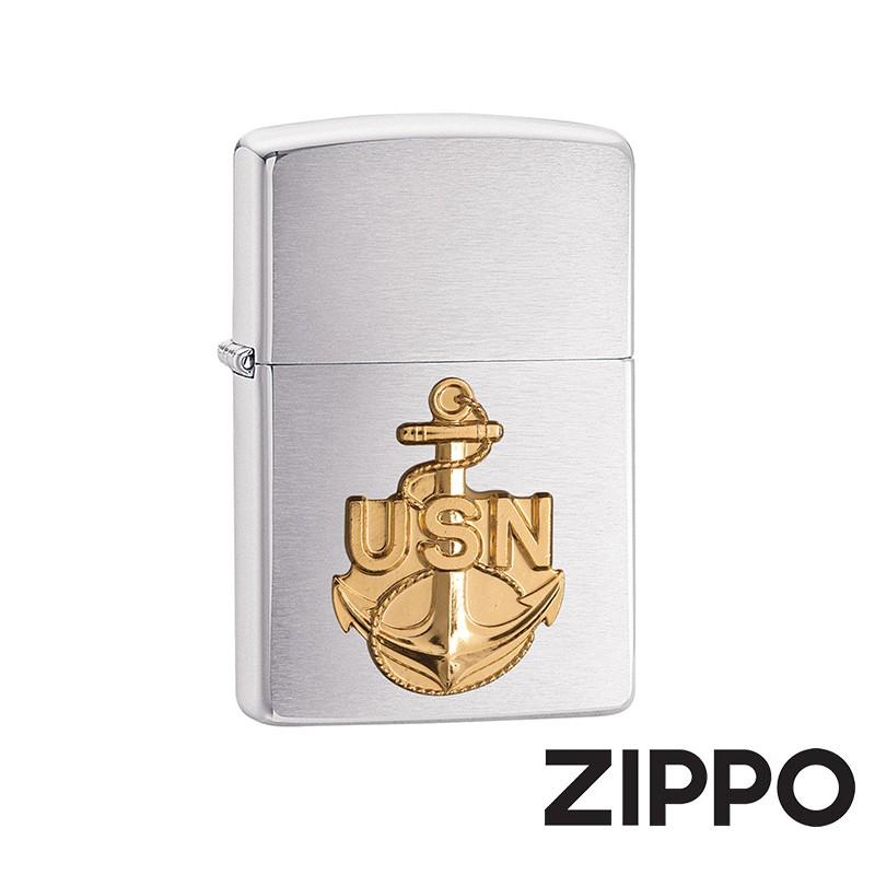 ZIPPO 海軍系列-錨金徽章防風打火機 美國設計 280ANC