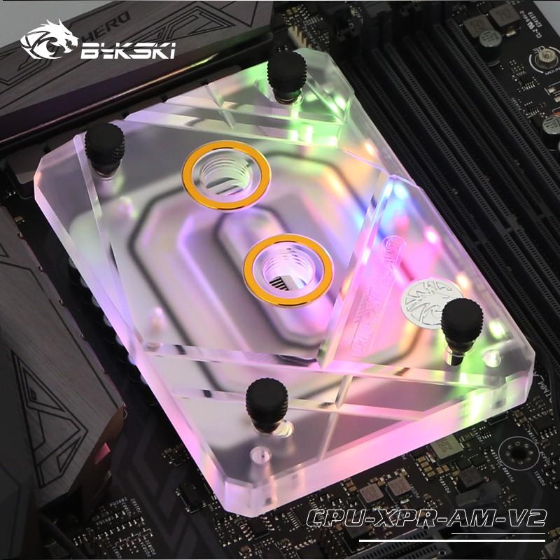 AMD Ryzen AM4 AM3 X399 1950X TR4的CPU水冷散熱塊散熱器使用