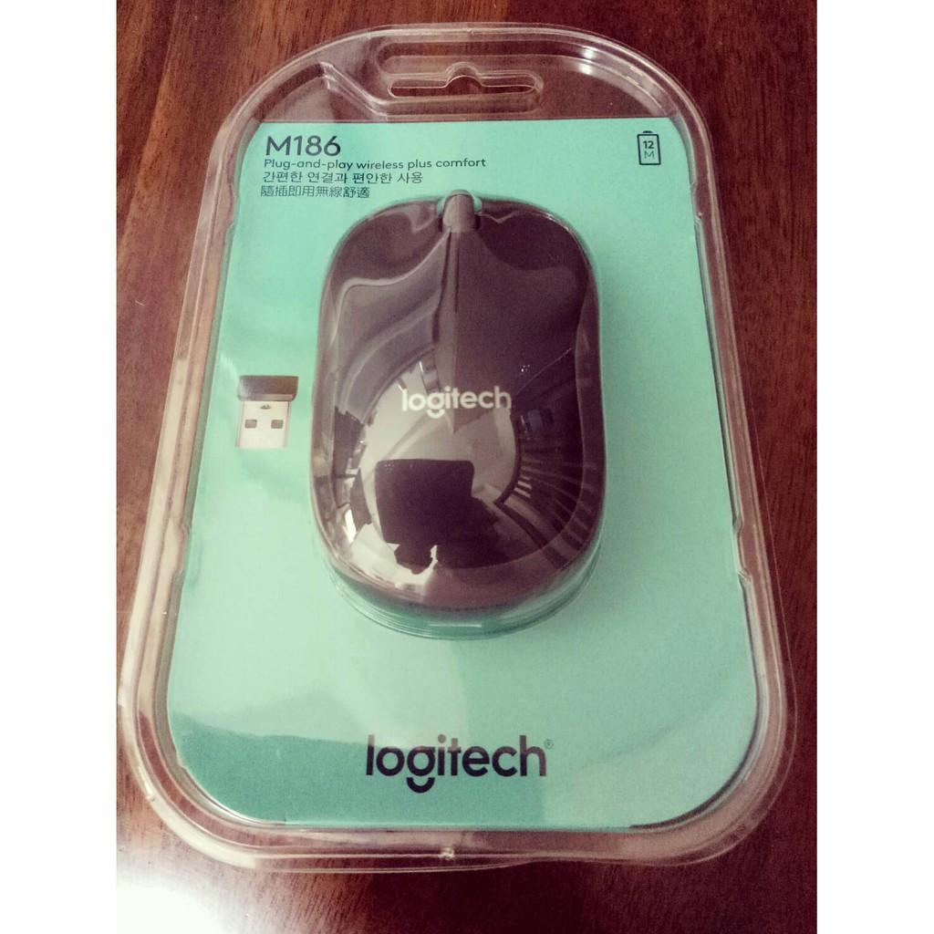 現貨當天寄 羅技 M186 無線滑鼠  logitech 無線滑鼠 羅技滑鼠