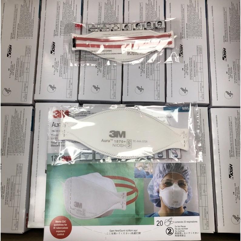 台灣現貨 免運  3M 1870+ N95口罩(20只/盒) 頭戴式魚形顆粒防護