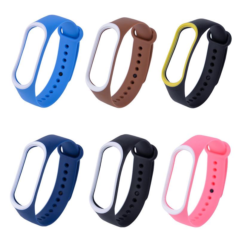 小米手環4 小米手環3 錶帶  腕带 雙色 撞色 防丟 替換腕帶小米3 小米4 米3 米4 炫彩腕帶 矽膠 親膚