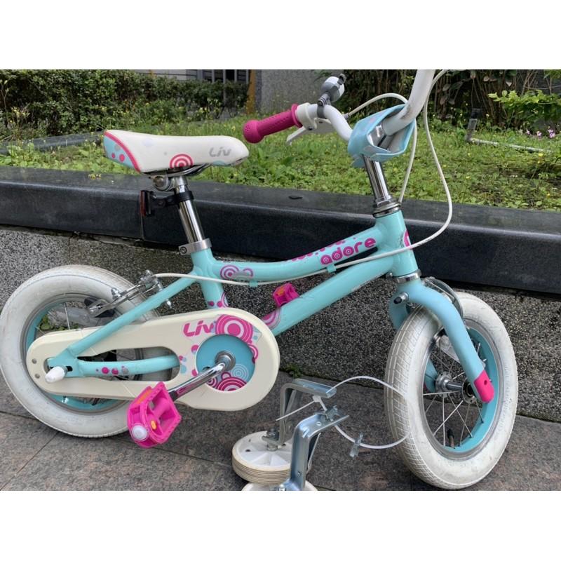 捷安特 LIV ADORE 12吋兒童腳踏車/童車 藍綠色  冰雪奇緣Elsa色